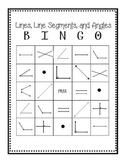 Lines, Line Segments, and Angles BINGO
