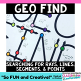 Line Segments, Rays, and Lines Activity: 4th Grade Geometry 4.G.A.1