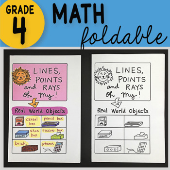 Doodle Notes - Lines, Points and Rays Oh My! Math Interactive Notebook Foldable