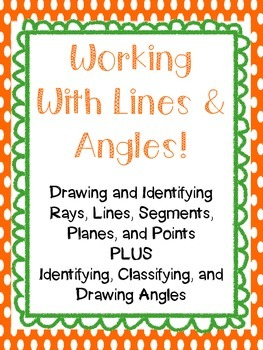 Lines, Rays, Planes, Points, Parallel, Perpendicular, Intersecting, and Angles!
