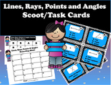 Geometry - Lines, Rays, Points, and Angles Geometry Figures Task Cards