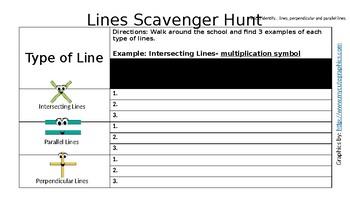 Lines Scavenger Hunt