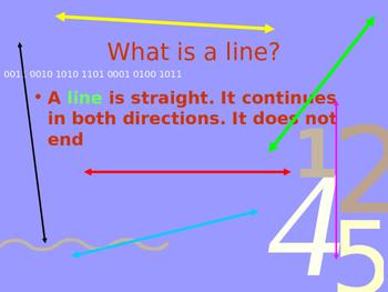 Lines, Segments, Angles