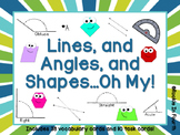 Lines, Shapes, and Angles Task Cards
