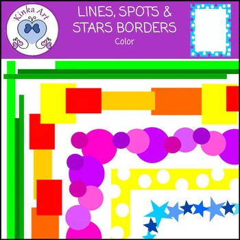 Lines Spots & Stars Borders