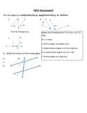 Lines, Transversals, and Classifying Angles