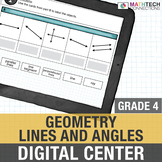 Lines and Angles - 4th Grade Digital Math Center Google Slides