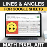 Lines and Angles 4th Grade Math Mystery Picture Digital Coloring