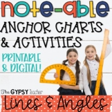 Lines and Angles Anchor Charts and Activities