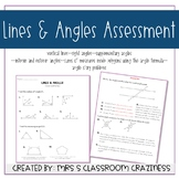 Lines and Angles Assessment