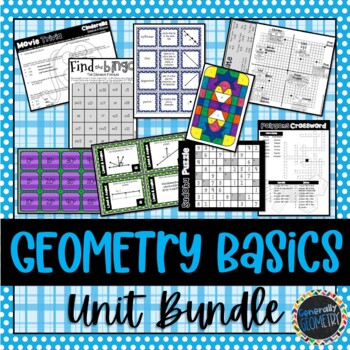 Matching description geometry teaching resources teachers pay geometry basics unit bundle geometry lines angles basic polygons fandeluxe Choice Image