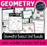 Geometry Basics Unit Bundle; Geometry, Lines, Angles, Basic Polygons