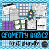 Geometry Basics Unit Bundle; Geometry, Lines, Angles, Basi