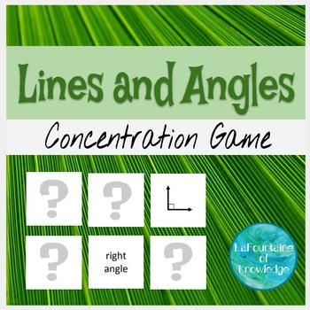 Lines and Angles Concentration Game