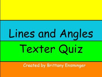 Lines and Angles Flipchart Quiz