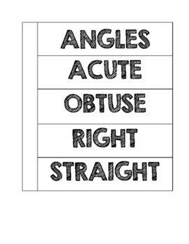 Lines and Angles Foldable