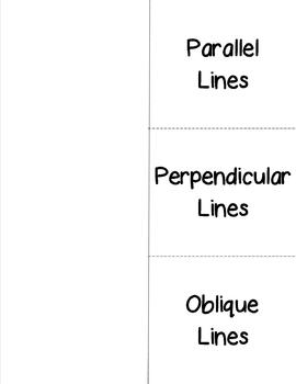 Lines and Angles Foldable Graphic Organizer