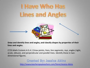 Lines and Angles Geometry I Have Who Has