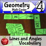 Geometry Lines and Angles Vocabulary Dominoes