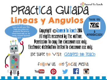 Lines and Angles Guided Practice - Spanish