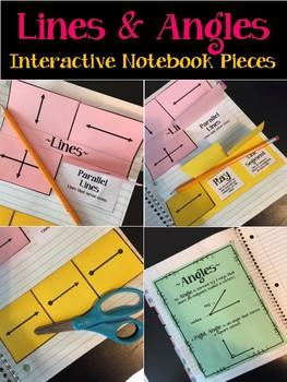 Lines and Angles. Interactive Notebook Pieces. Geometry. Third Grade