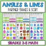 Lines and Angles Partner Games and Sorts