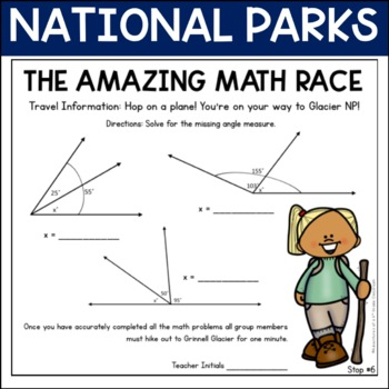 Lines and Angles Review (Amazing Math Race)