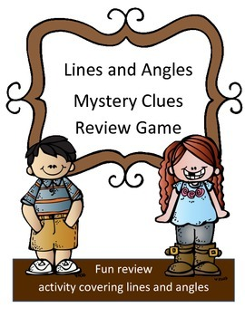 Lines and Angles Review Game: Mystery Clues
