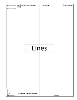 Lines and Angles Scavenger Hunt