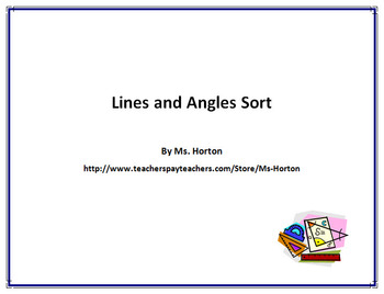 Lines and Angles Sort