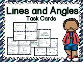 Lines and Angles Task Cards (Boom Cards also Included)