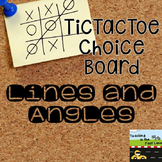 Lines and Angles TicTacToe Choice Board Extension Activities