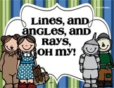 *Lines, and Angles, and Rays - Common Core Geometry Vocabulary