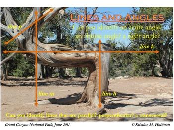 """Lines and Angles"" at Grand Canyon National Park (Math Poster)"