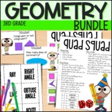Lines and Shapes Geometry Unit -Everything But the Dice - 3rd Grade