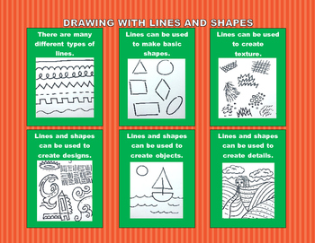 Lines and Shapes Poster