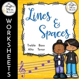 Lines and Spaces Anchor Charts and Worksheets Great for Distance Learning