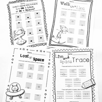 Lines and Spaces Worksheet Pack
