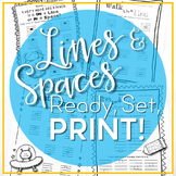 Music Worksheets - Lines and Spaces