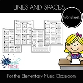 Lines and Spaces Worksheets