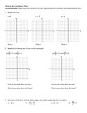 Lines in the Coordinate Plane Notes