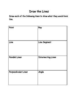 Lines, line segment and angles