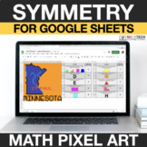 Lines of Symmetry 4th Grade Math Mystery Picture Digital Coloring