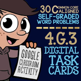 4.G.3 Lines of Symmetry Task Cards ★ Self-Graded Google Classroom 4G3 Assessment