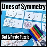 Lines of Symmetry Cut-Out Puzzle  4.G.3