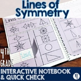 Lines of Symmetry Interactive Notebook Activity & Quick Ch