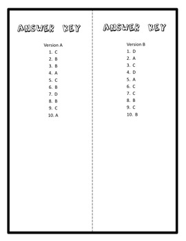 Lines of Symmetry Quiz, 4th Grade CCSS 4.G.3 Assessment, Includes Two Versions!