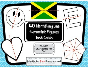 Lines of Symmetry Task Cards with BONUS Smart Notebook Fil