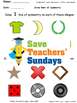 Lines of symmetry (in objects) lesson plans, worksheets and more