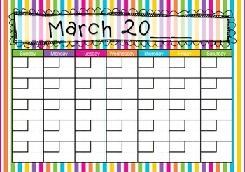 Lines themed Calendar: Teaching Time: Days, Weeks, Months and Years